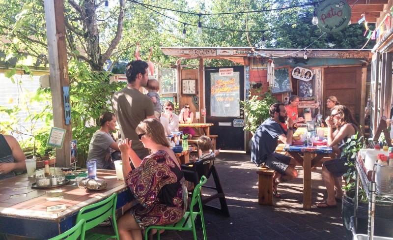 Patio at Porque No, Portland