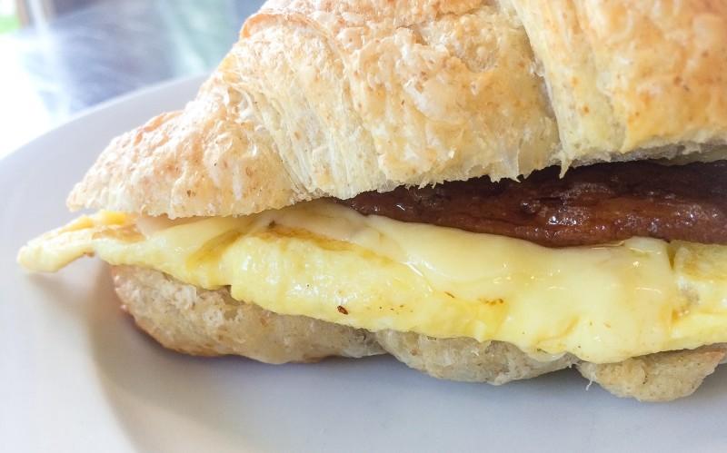 Whole Wheat Croissant Sandwich at Little T American Baker, Portland
