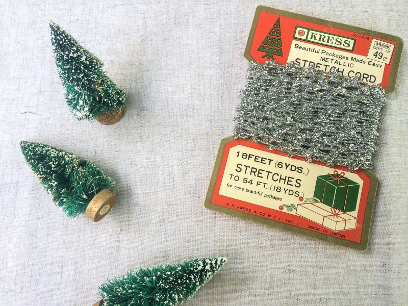 Vintage Holiday Trees and Tinsel from Goodwill Portland