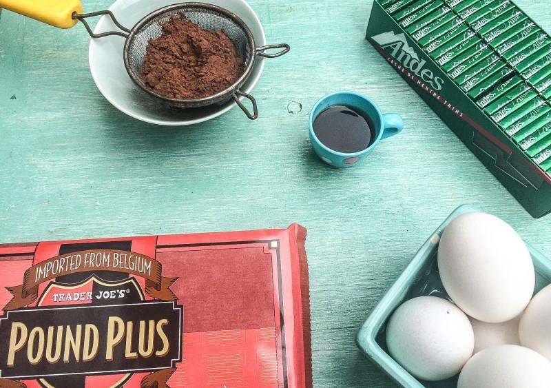 Homemade Bittersweet Brownie Ingredients