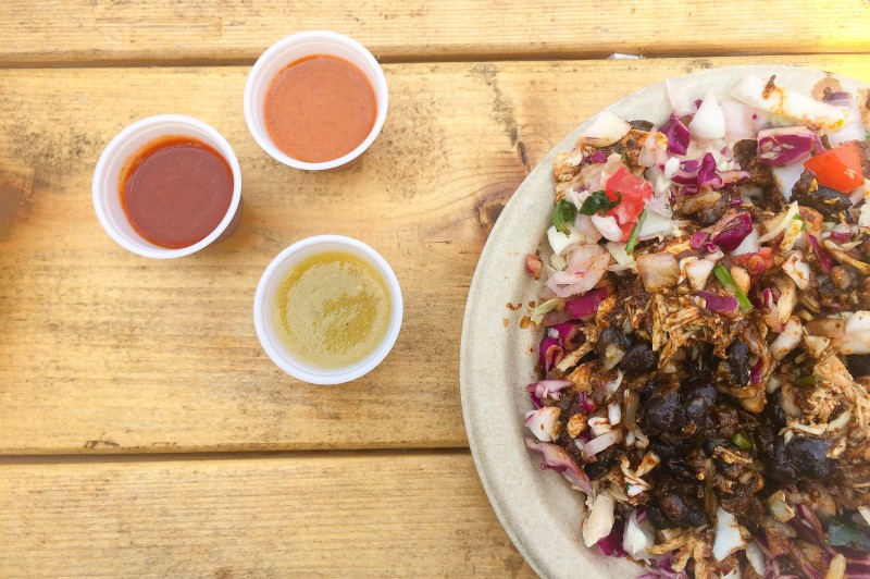 Mixteca Food Cart at Portland Mercado, Mole Bowl