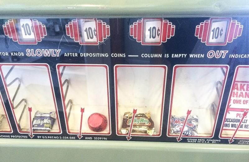 Antique Candy Machine in Wheeler,Oregon