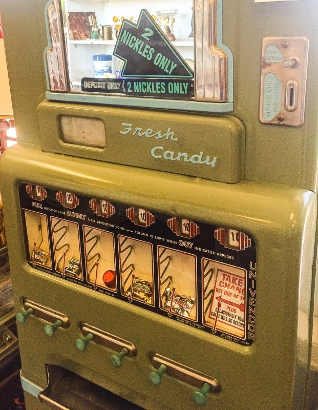 Vintage Candy Machine, Antiques in Wheeler, Oregon