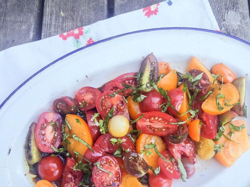 Heirloom Tomato Salad with Basil