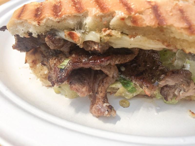 Gaucho Steak Sandwich at El Gato Tuerto Food Truck, Portland Mercado