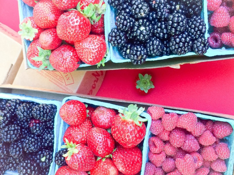 Fresh Berries at PSU Farmers Market, Portland