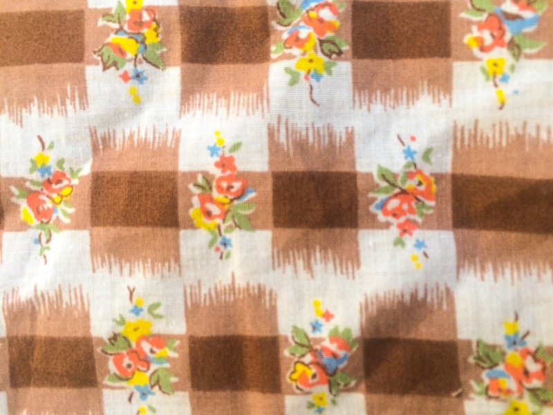 Vintage Fabric for Pumpkin Spice Cake Bread