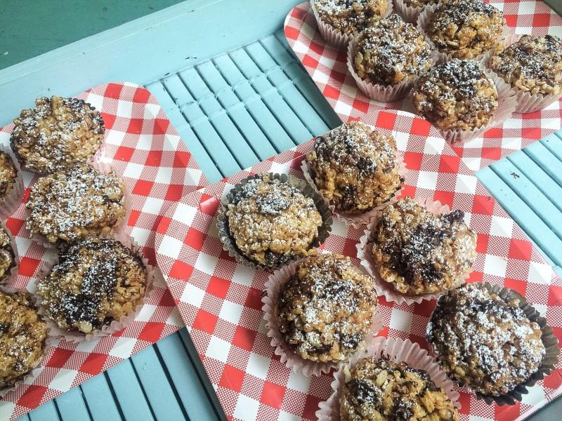 Peanut Butter and Dark Chocolate Rice Crispy treats, 9/11 treats