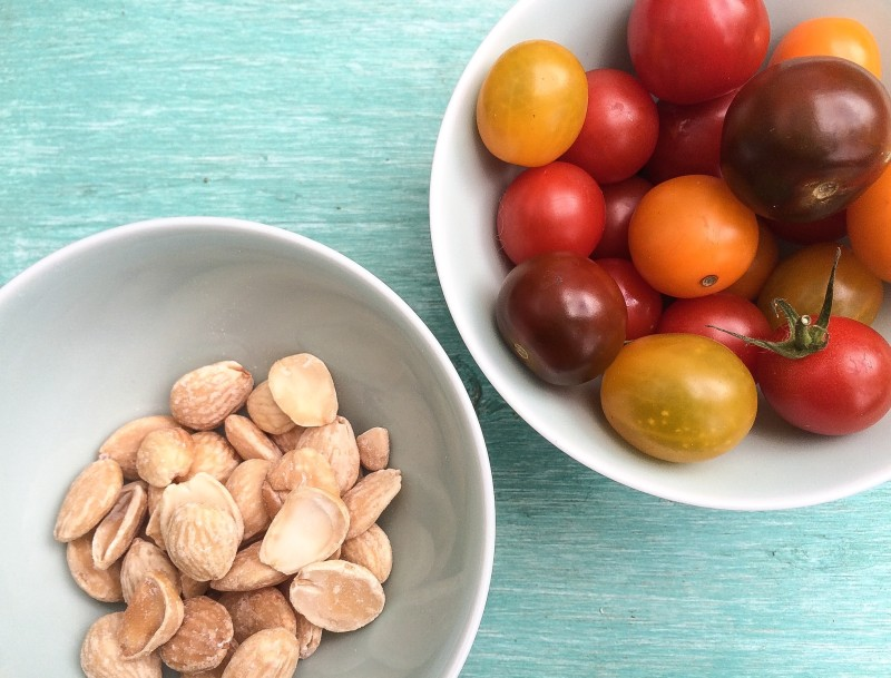 Tomatoes and Marcona Almonds for Salad