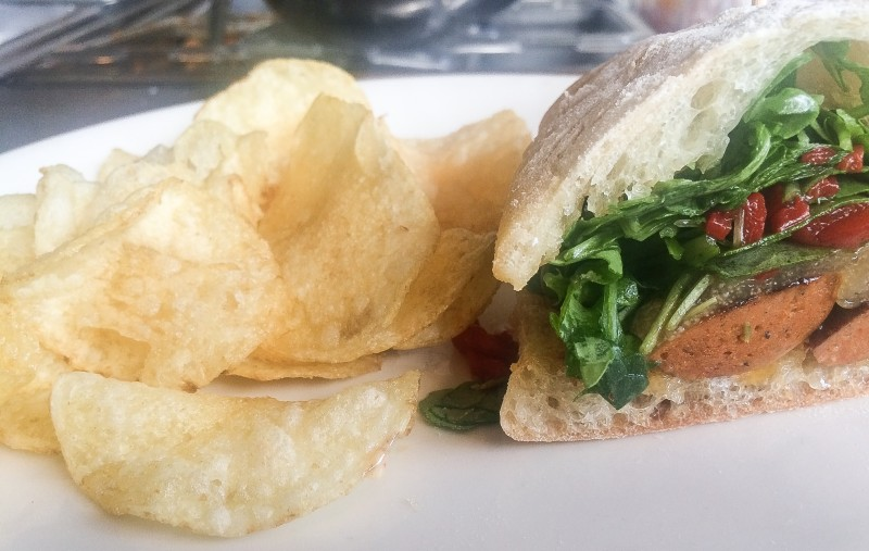 Seared Chorizo Sandwich at Olympia Provisions, Portland