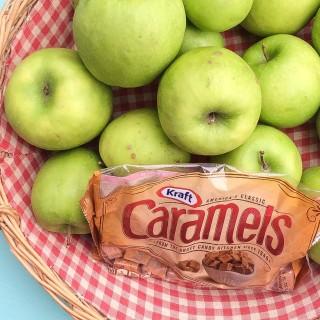 Caramel Apple Making in Red Gingham