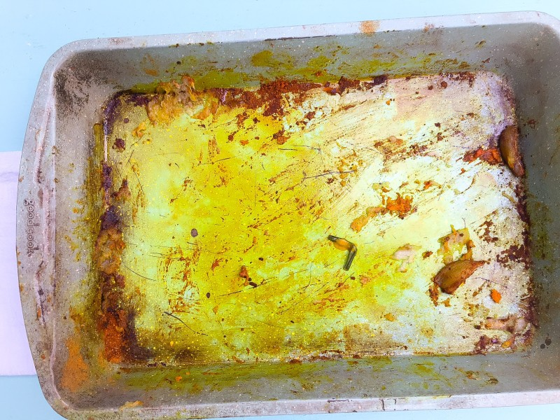 Empty Pan from Curried Butternut Squash Soup