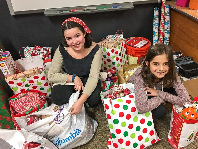 irls Pull together Items for Needy Family