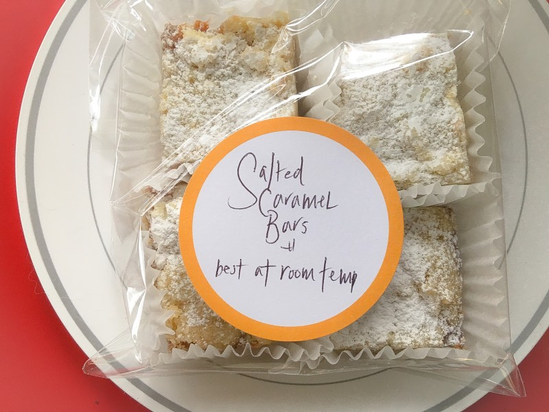 Salted Caramel Bars, Easy Food Gifts