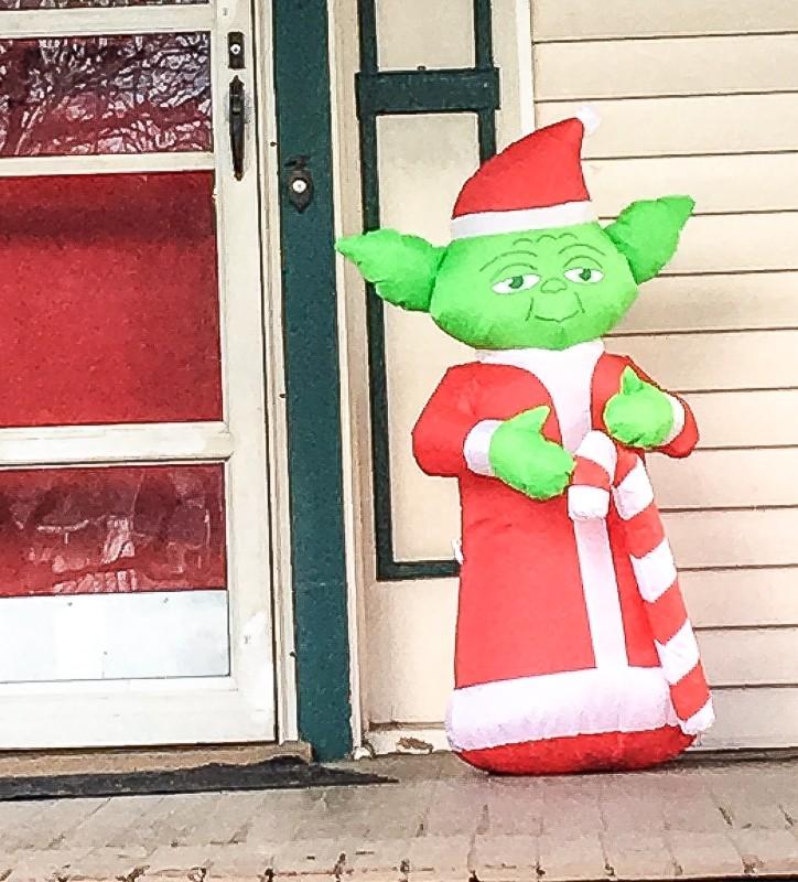 Yoda on Porch, Portland