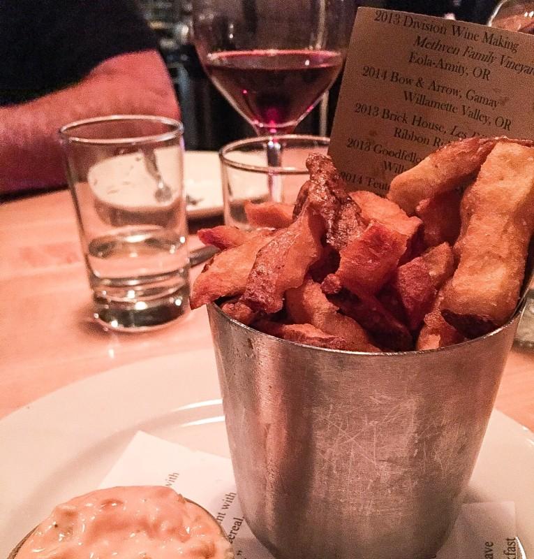 Crinkle Cut Fries at Tasty n Sons, Portland