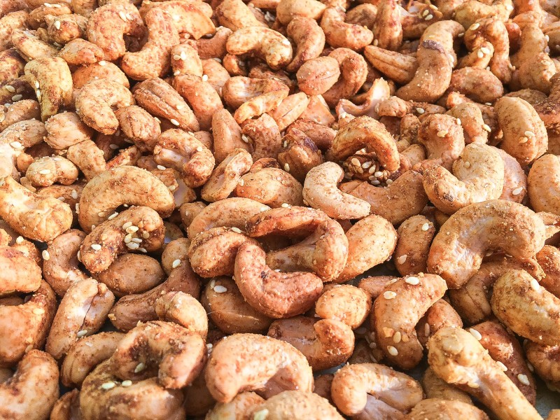 Roasted Curried Cashews for Holiday Food GIft