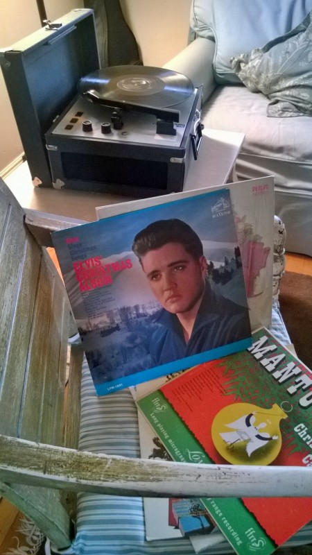 Elvis, Vintage Record Player, Goodwill and Soup Swap Party