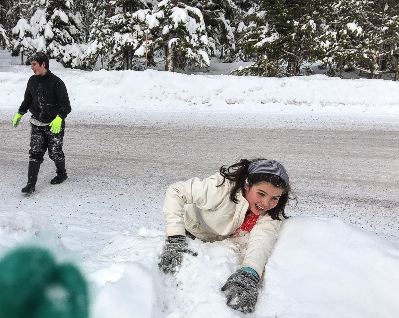 Kids at Mt. Hood Sno-Park
