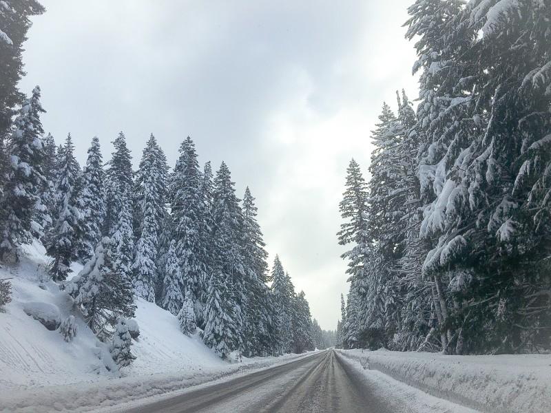Road to Mt. Hood Sno-Park