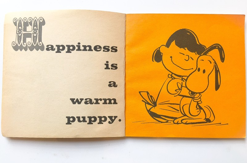 Happiness is a warm puppy book, Charles Schulz