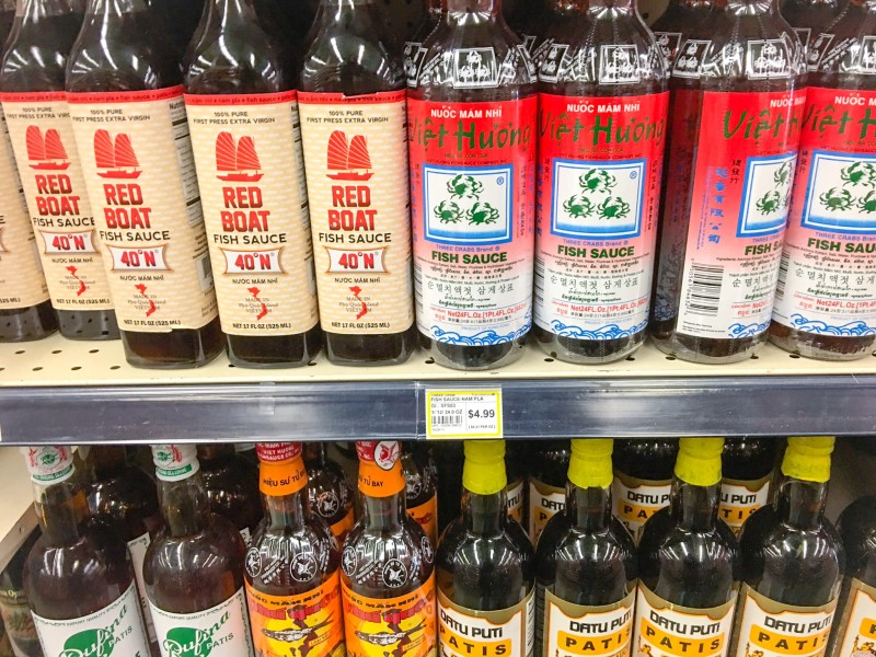 Fish Sauce and Condiment Selection at Uwajimaya Beaverton