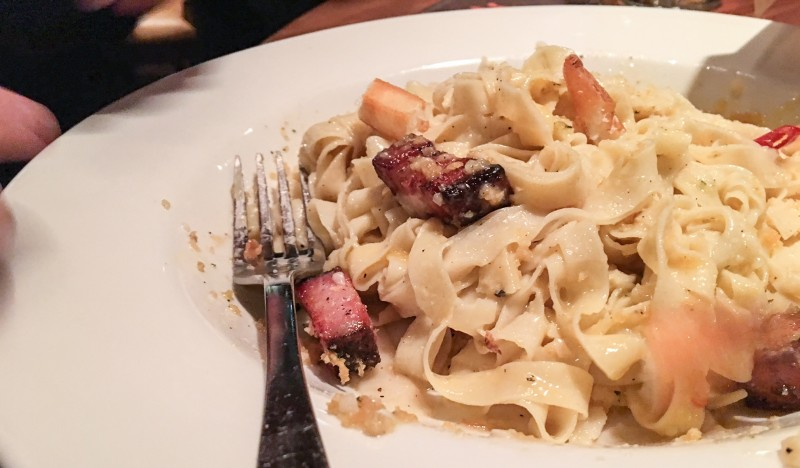 Carbonara with Duck Egg and Pancetta at Imperial Portland