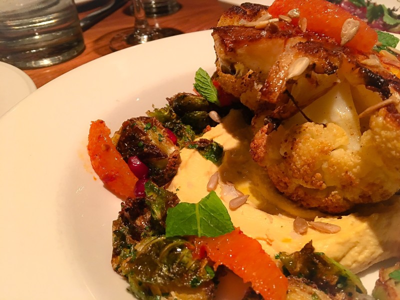 Imperial Restaurant's Pan Roasted Cauliflower with Crispy Brussels Sprouts
