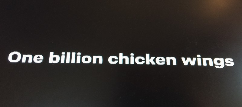 One Billion Chicken WIngs