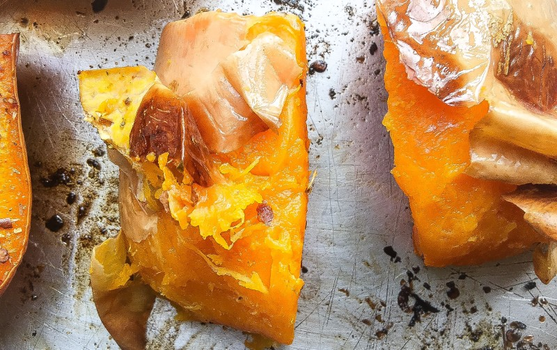 Roasted Butternut Squash without Peeling