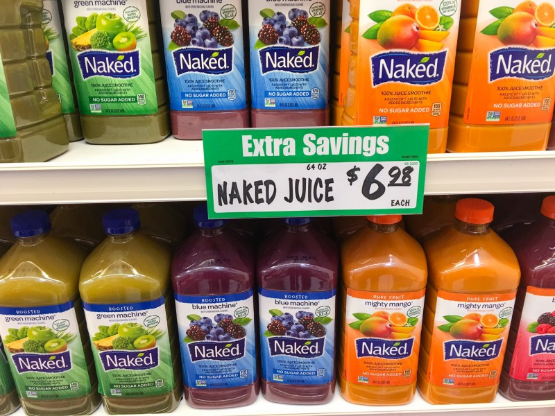 Naked Juice at Winco, Portland