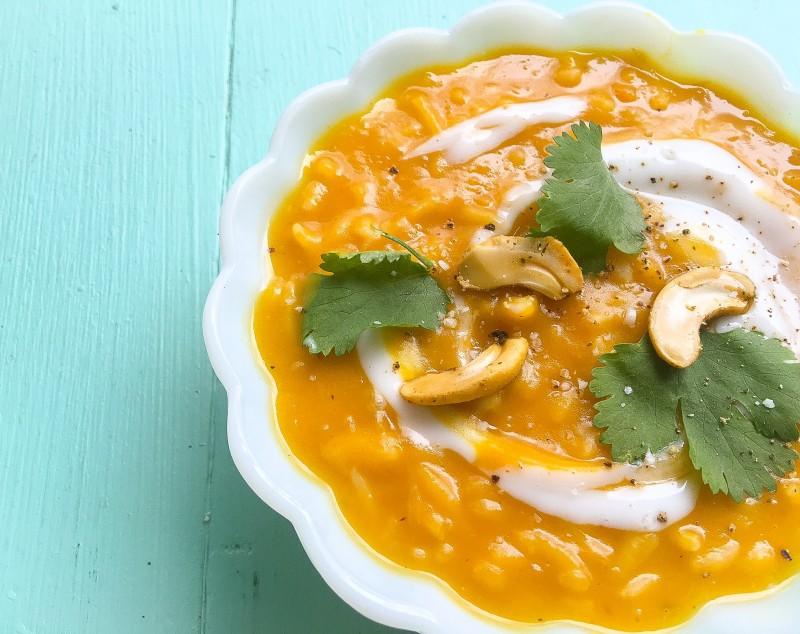 Roasted Kabocha Squash and Panang Curry Soup