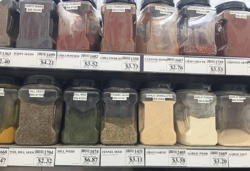 Bulk Spice Aisle at Winco, Portland