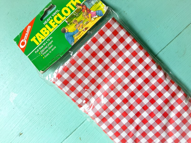 Gingham Tablecloth from Goodwill Bins