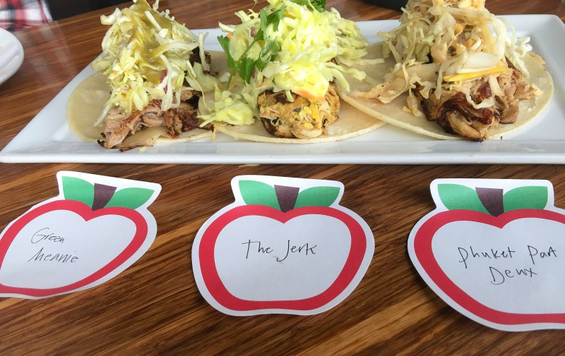 Taco Selection of Cruzroom Taco Lab