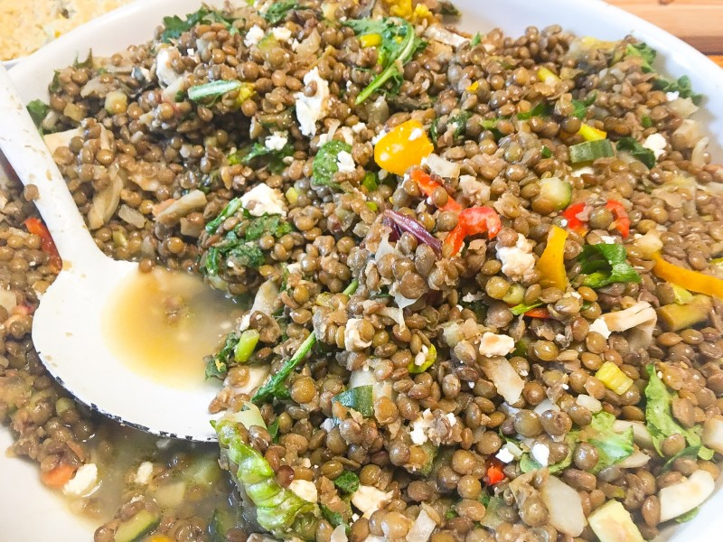 Lentil Salad with Vegetables