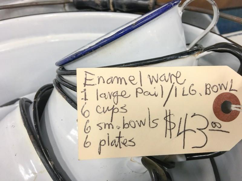 Enamelware Vintage Grand Market, Portland