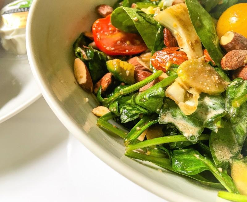 Spinach Salad with Avocado Portland