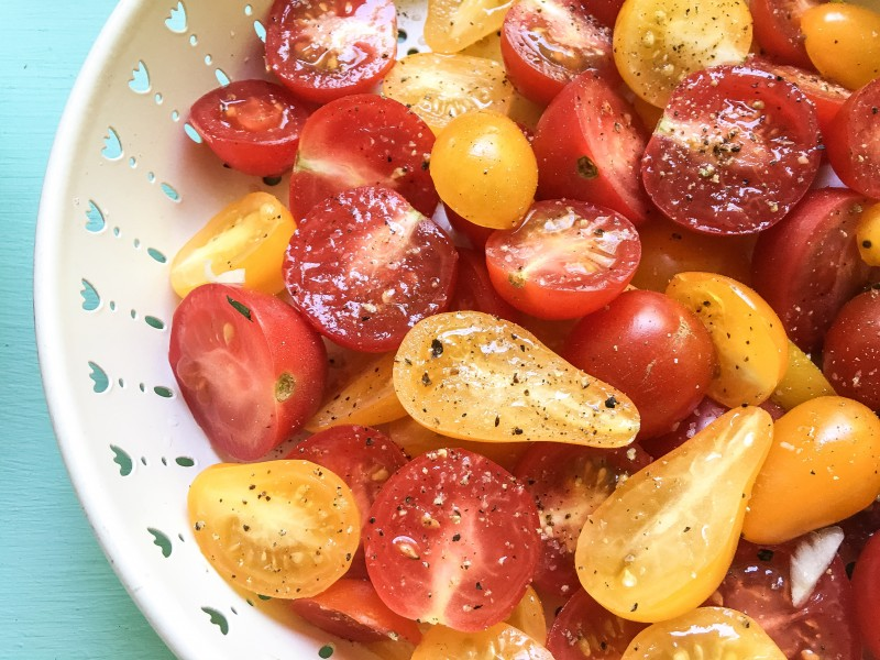 Tomatoes for Corn Salad