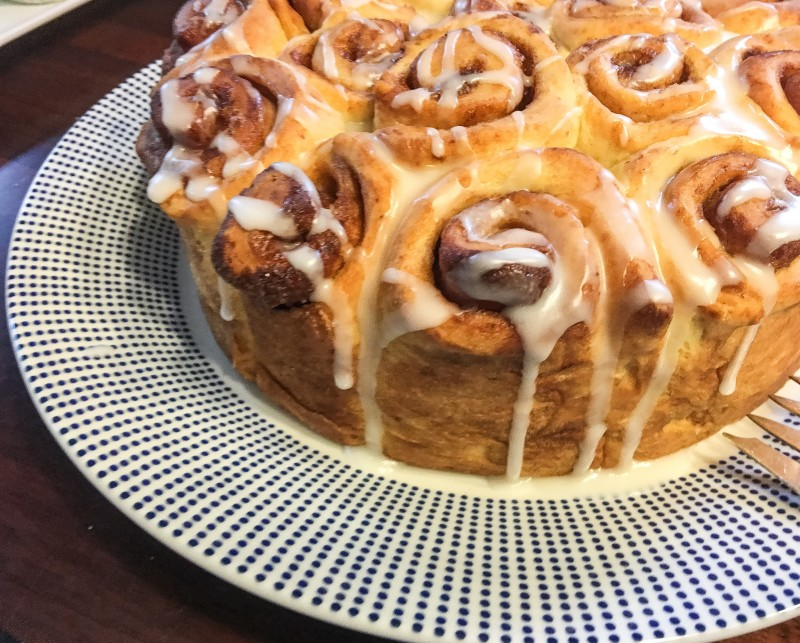 Cinnamon Roll Cake, Auction Brunch