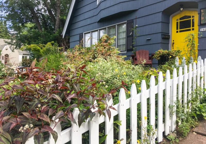 Blue House, Yellow Door,Portland