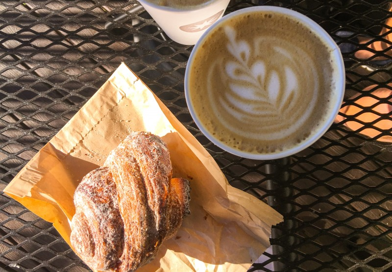 Latte and Morning Roll from Mix, Ashland