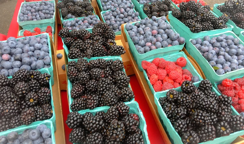 Berries from PSU Farmers Market