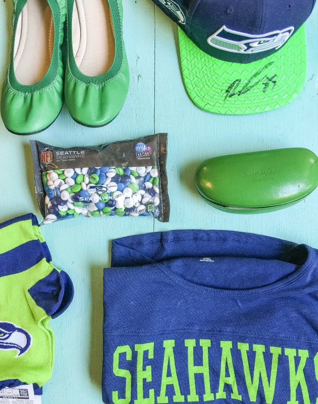 Getting ready for Seahawks Game, Seattle