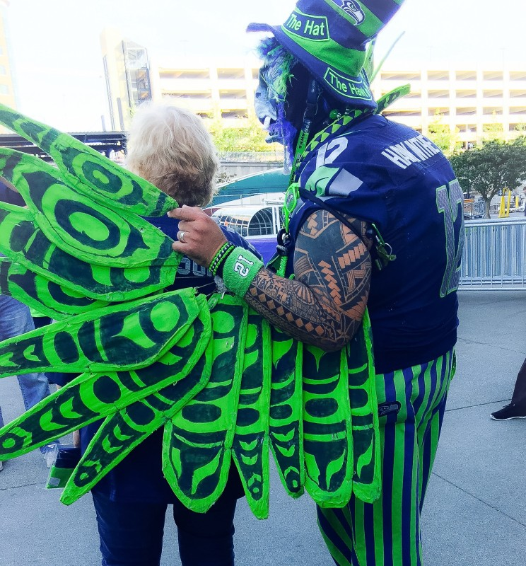 Seahawk Game, Super Fan