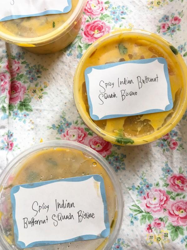 Spicy Indian BUtternut Squash Bisque