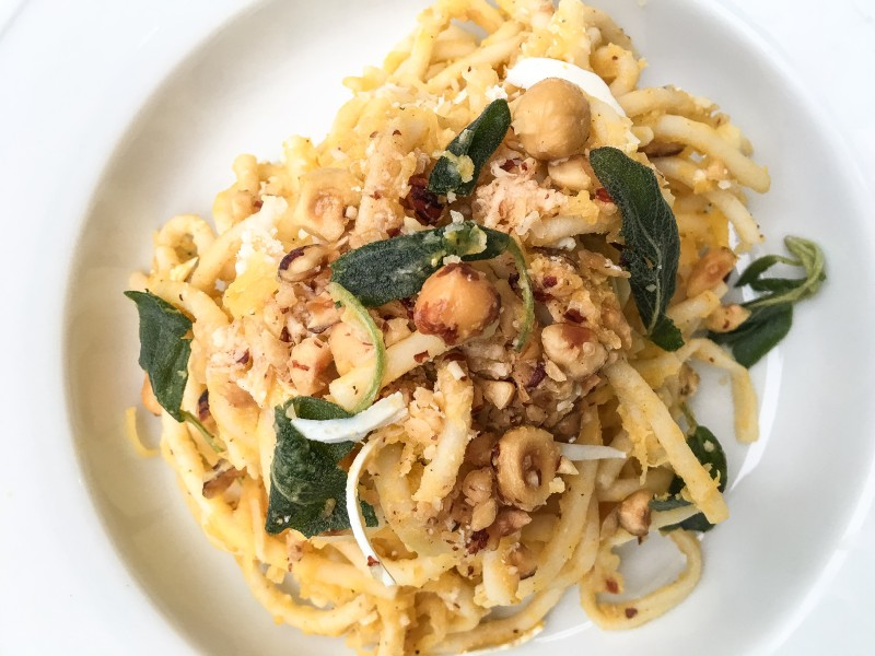Pasta with Hazelnuts and Squash