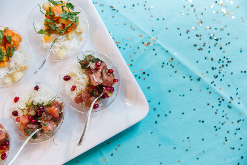 Ahi Tuna Poke appetizers, tips for party