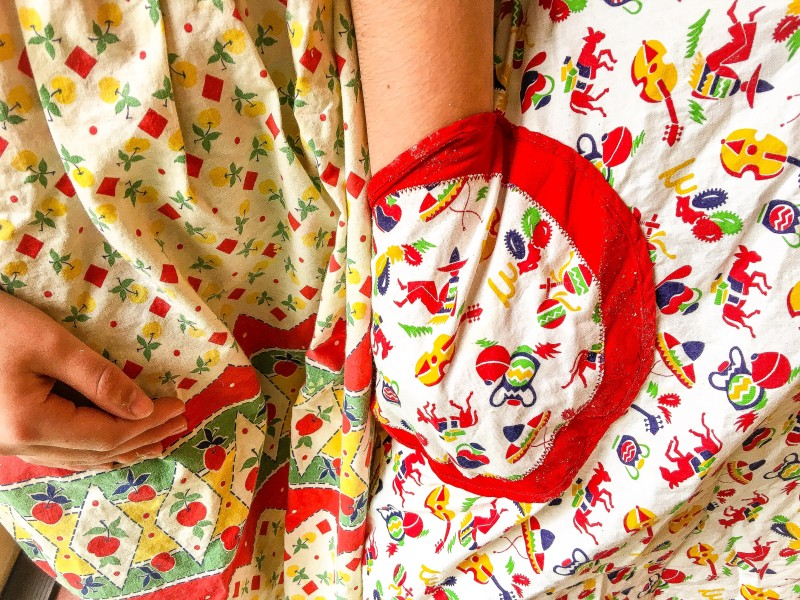 Vintage Aprons on Girls