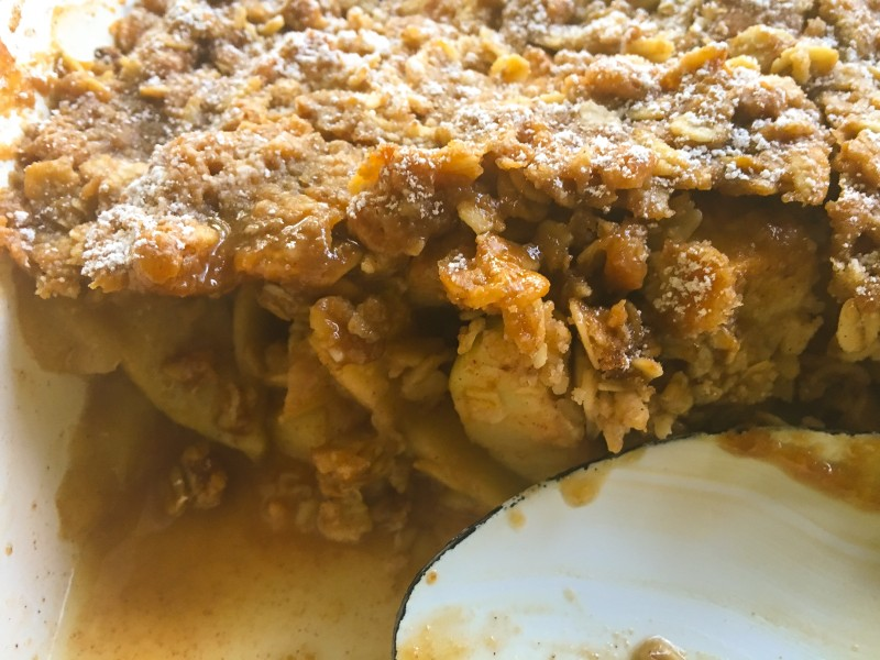 Apple Crisp with Brown Sugar Caramel
